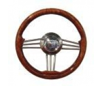 Green I 350 mm Steering wheel in wood